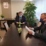 141 599 zł dofinansowania na chodnik- spotkanie Burmistrza Ryglic ze Starostą Tarnowskim.