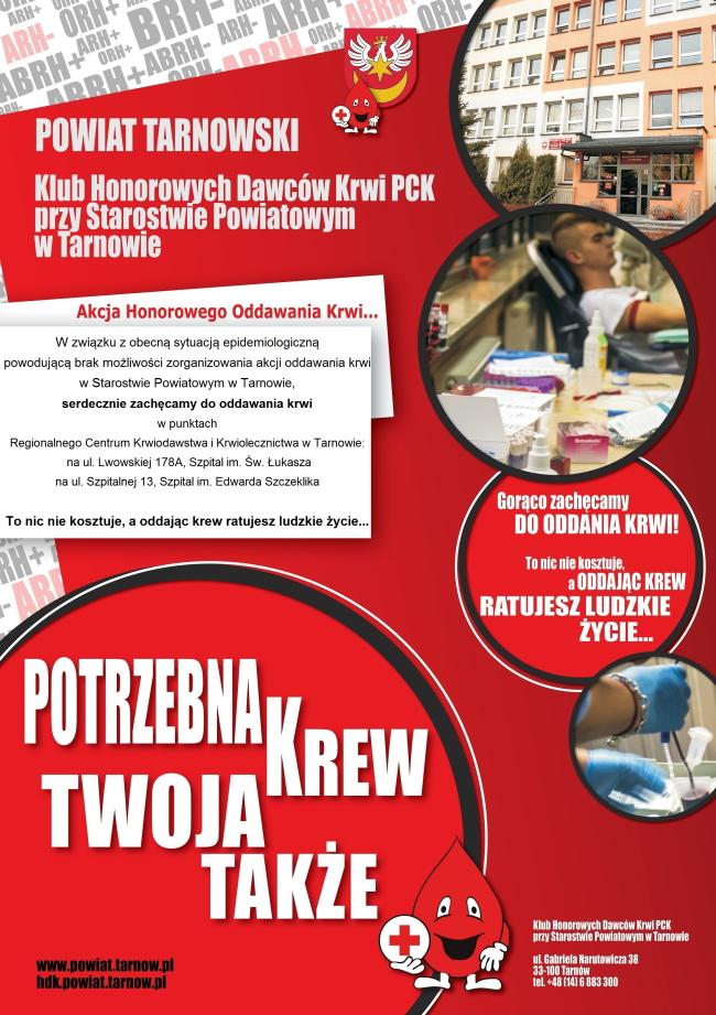 plakat promujący akcje oddawania krwi