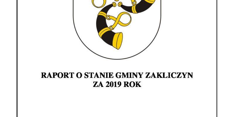 Raport o stanie Gminy Zakliczyn za 2019 rok