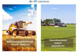 """ARiMR – Kończy się czas na złożenie wniosków na """"Modernizację wobszarze D"""" i""""Restrukturyzację małych gospodarstw"""" – informacja prasowa"""