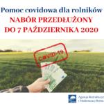 Przedłużony termin naboru wniosków dla rolników poszkodowanych przez COVID-19