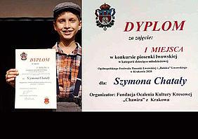 Szymon Chatała laureatem Konkursu Piosenki Lwowskiej w Krakowie