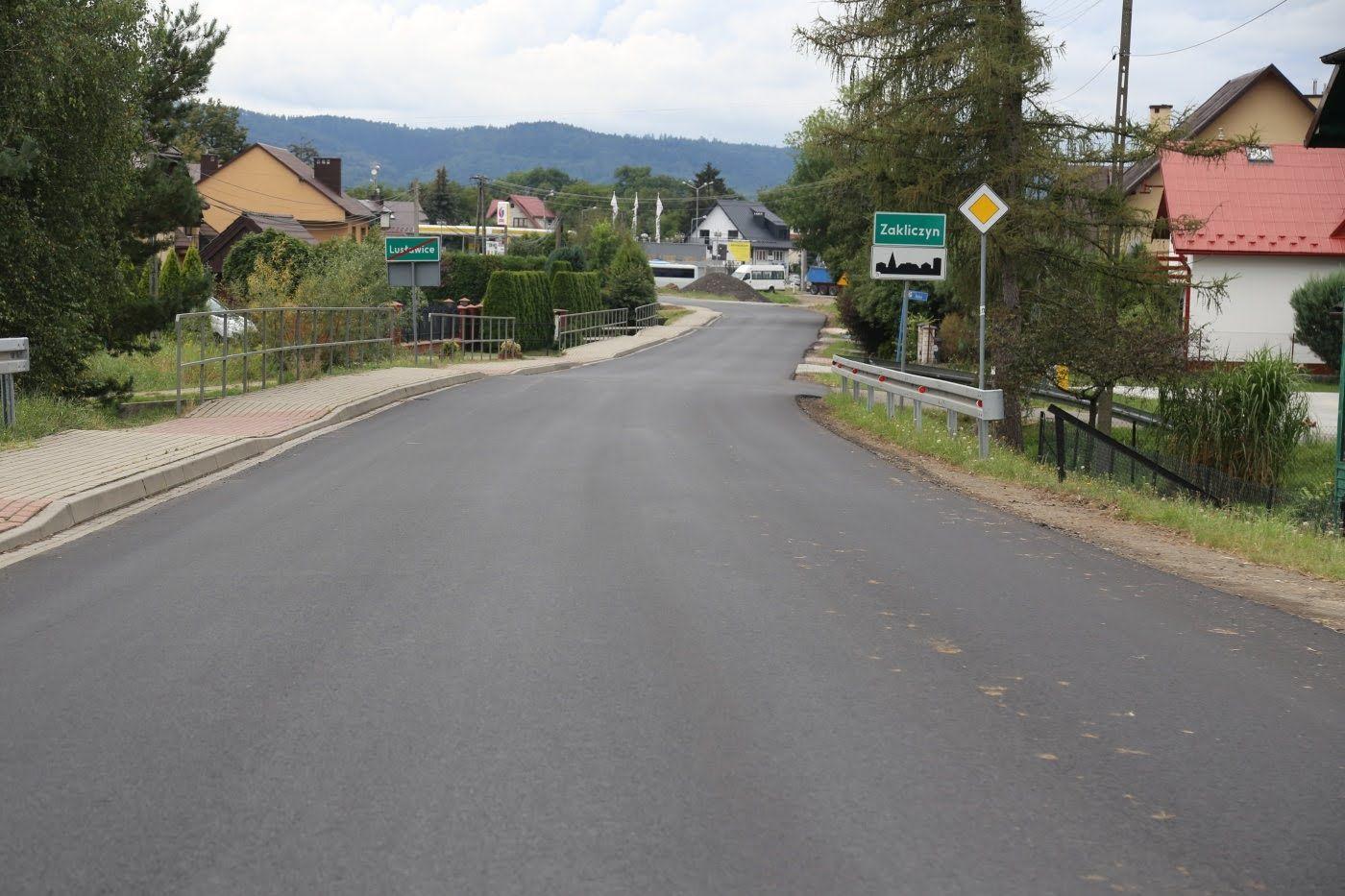 fragment drogi powiatowej nr 1356 K relacji Tarnów - Zakliczyn