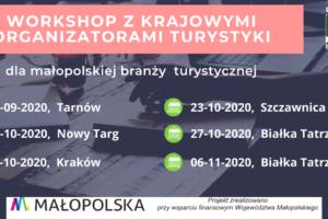 Bezpłatne warsztaty-spotkania z krajowymi organizatorami turystyki dla przedstawicieli małopolskiej branży turystycznej