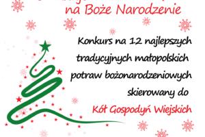 """Konkurs dla Kół Gospodyń Wiejskich pt. """"Polska smakuje na Boże Narodzenie"""""""