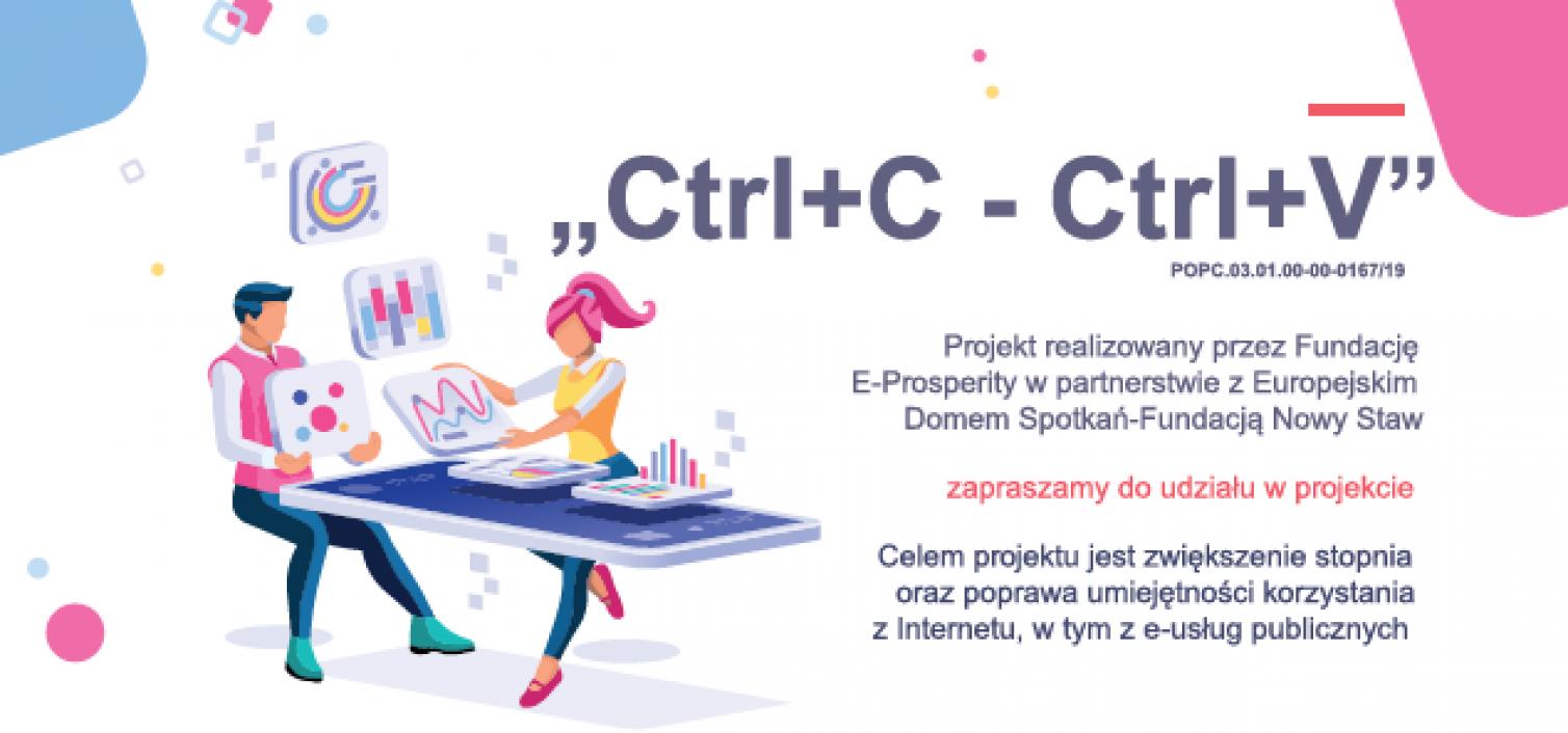 """Szkolenia IT w ramach projektu """"Ctrl+C – Ctrl+V"""""""