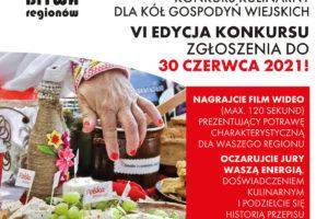Bitwa Regionów 2021 – VI edycja konkursu kulinarnego dedykowanego Kołom Gospodyń Wiejskich.