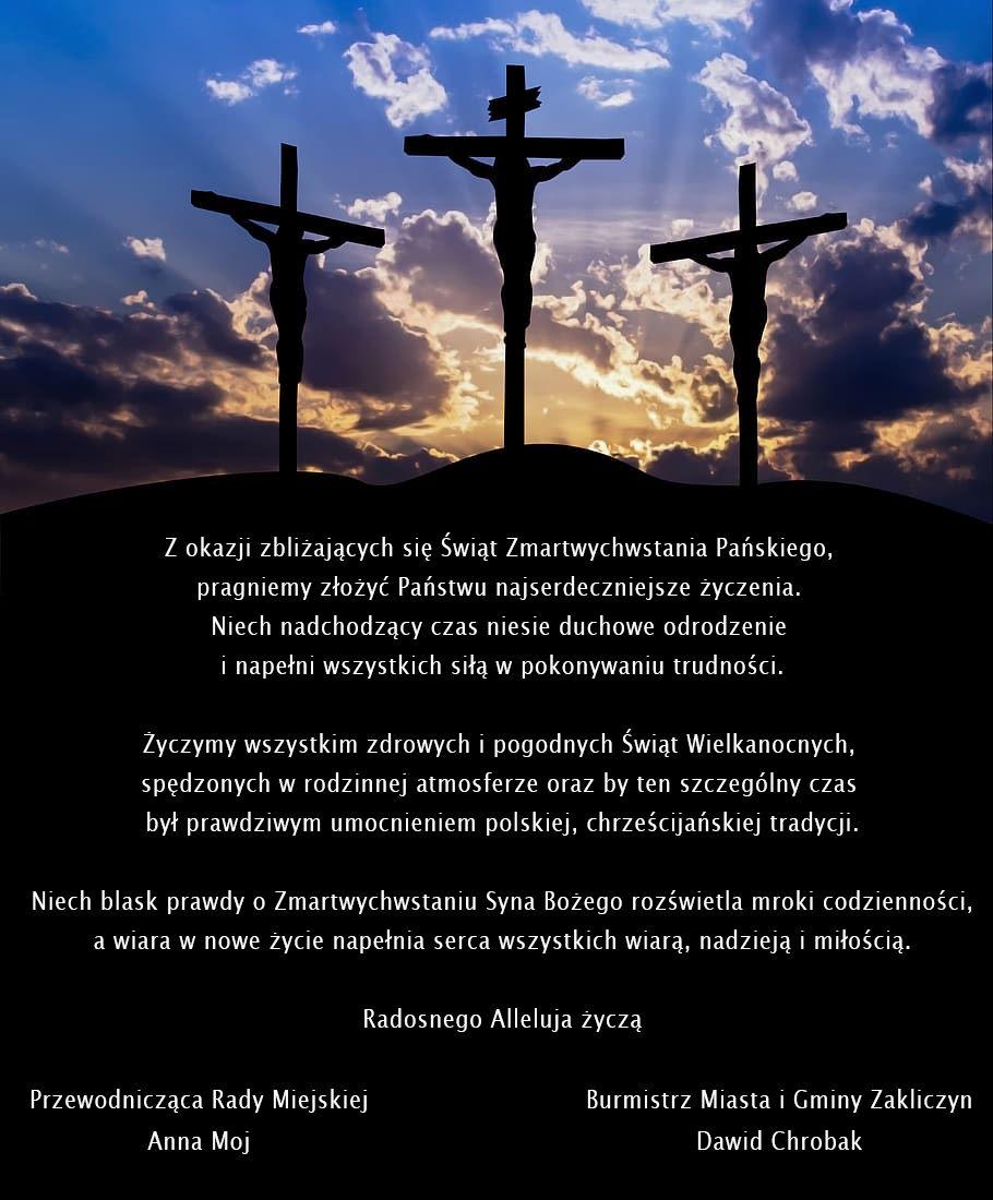 życzenia z okazji Świąt Zmartwychwstania Pańskiego