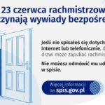 Ogłoszenia: Rachmistrzowie spisowi rozpoczynają realizację wywiadów bezpośrednich w terenie