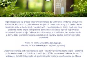 Deklaracja emisyjności budynków
