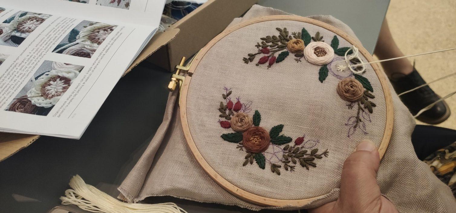Wikliniarstwo, haft i szydełkowanie