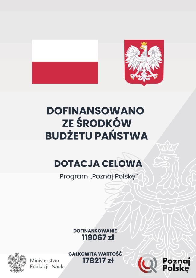 """Plakat informacyjny """"Poznaj Polskę"""""""
