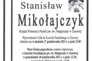 Link do Mszy św. pogrzebowej Księdza Proboszcza Stanisława Mikołajczyka
